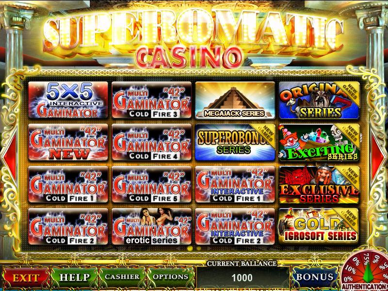 Играть в игровые автоматы супероматик онлайн казино хистори кафе