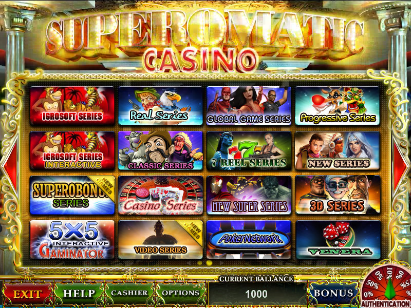 Superomatic - casino game software