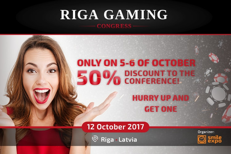 50% discount on Riga Gaming Congress tickets