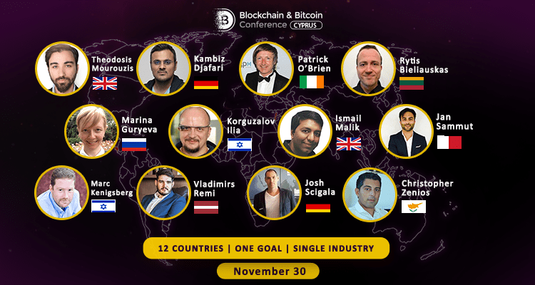 Bitcoin & Blockchain Conference Cyprus on November 30, Limassol