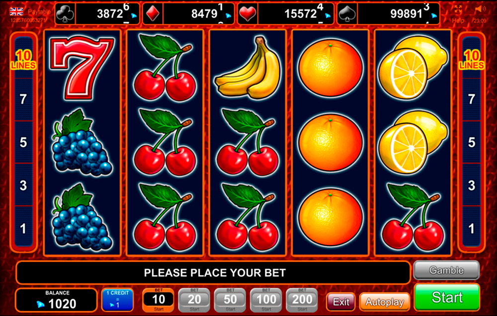 video slot Extra Stars by EGT casino supplier