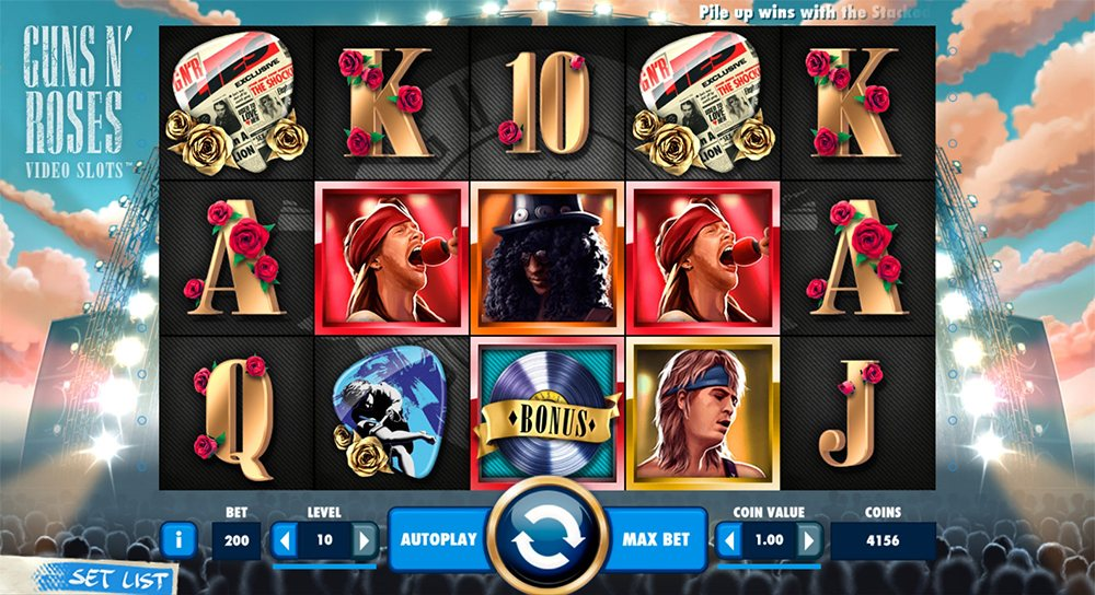 NetEnt Guns N' Roses online slot machine
