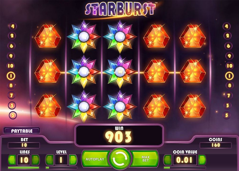 NetEnt Starburst online slot game