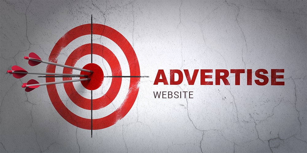 Advertise gambling website on the Internet