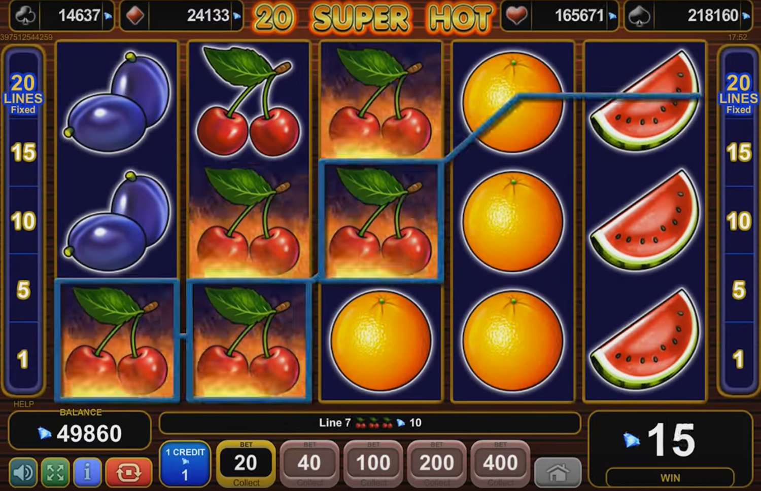 Html5 slot from EGT, screenshot 3