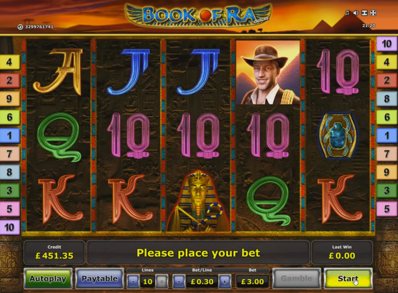 HTML5 slot from Novomatic, screenshot 1