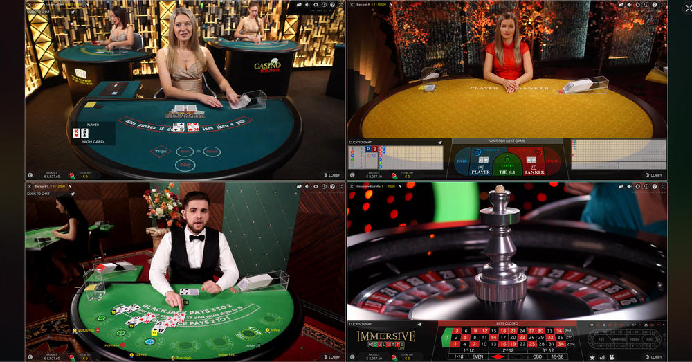 Evolution Gaming live dealer casino software - Multi-games