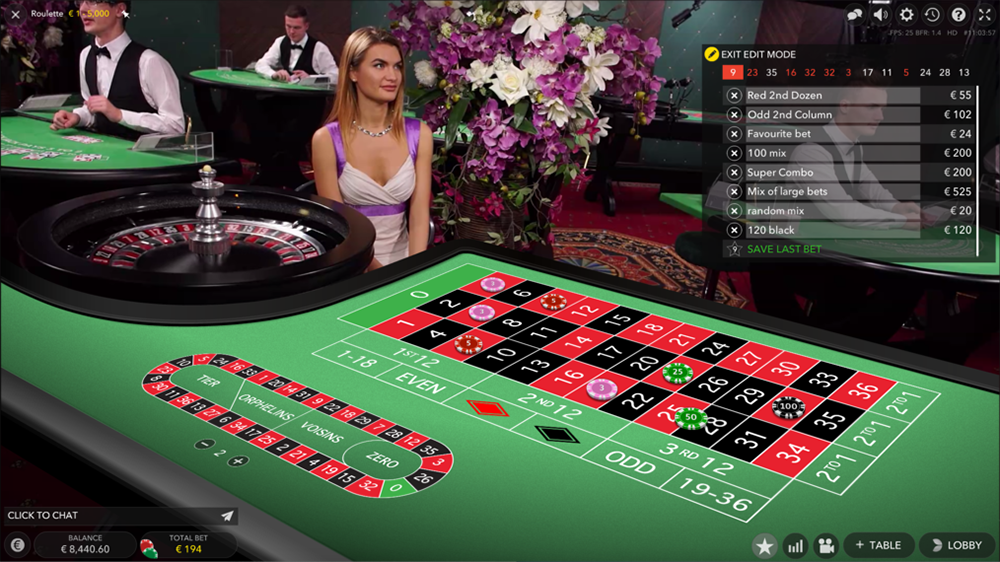 Evolution Gaming live dealer casino software - Roulette