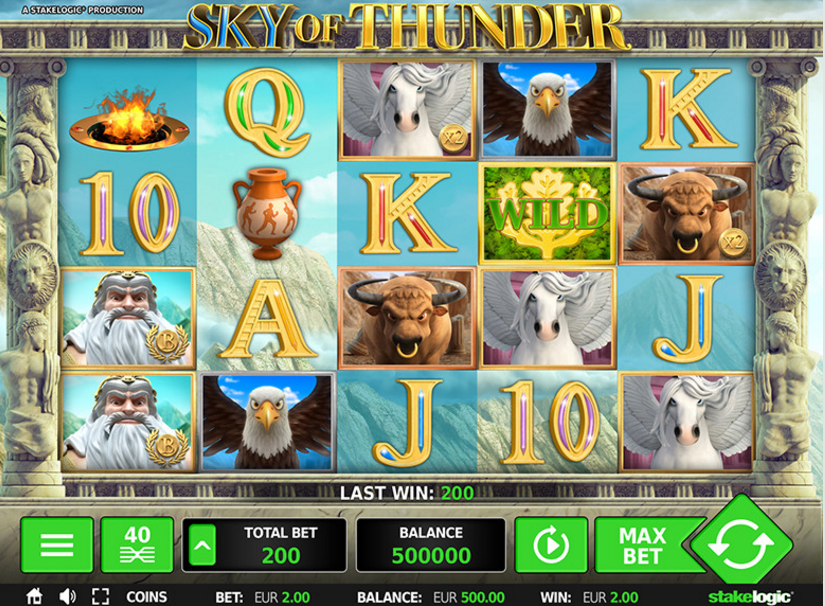 Greentube HTML5 - Sky of Thunder