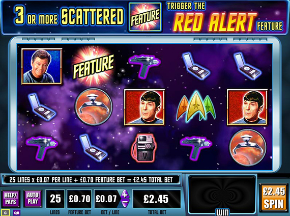 HTML5-игры WMS Gaming - Star Trek