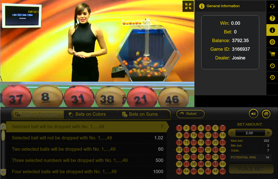 Ezugi casino software - Live lottery