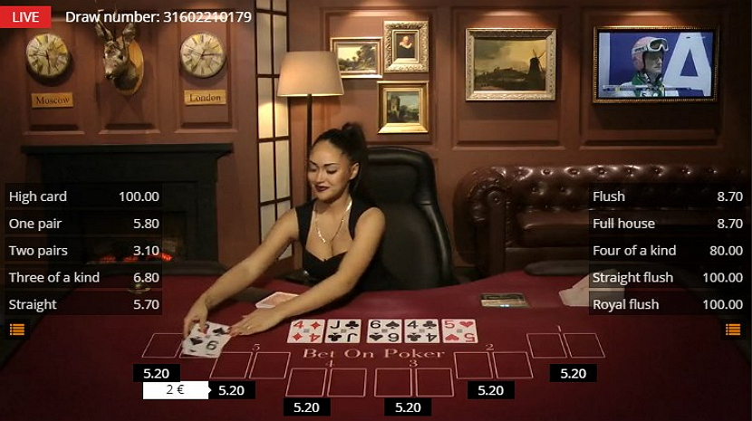 BetGames.tv betting platform - BetOnPoker