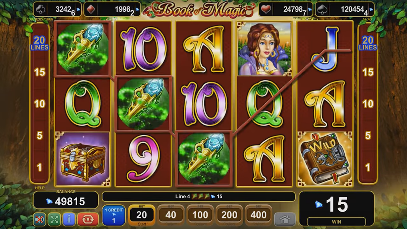 euro casino online book of magic