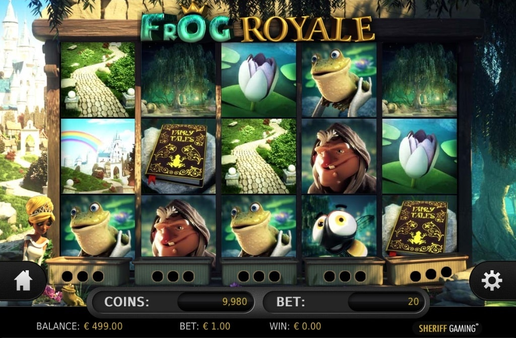 Casino game Frog Royale from Sheriff Gaming
