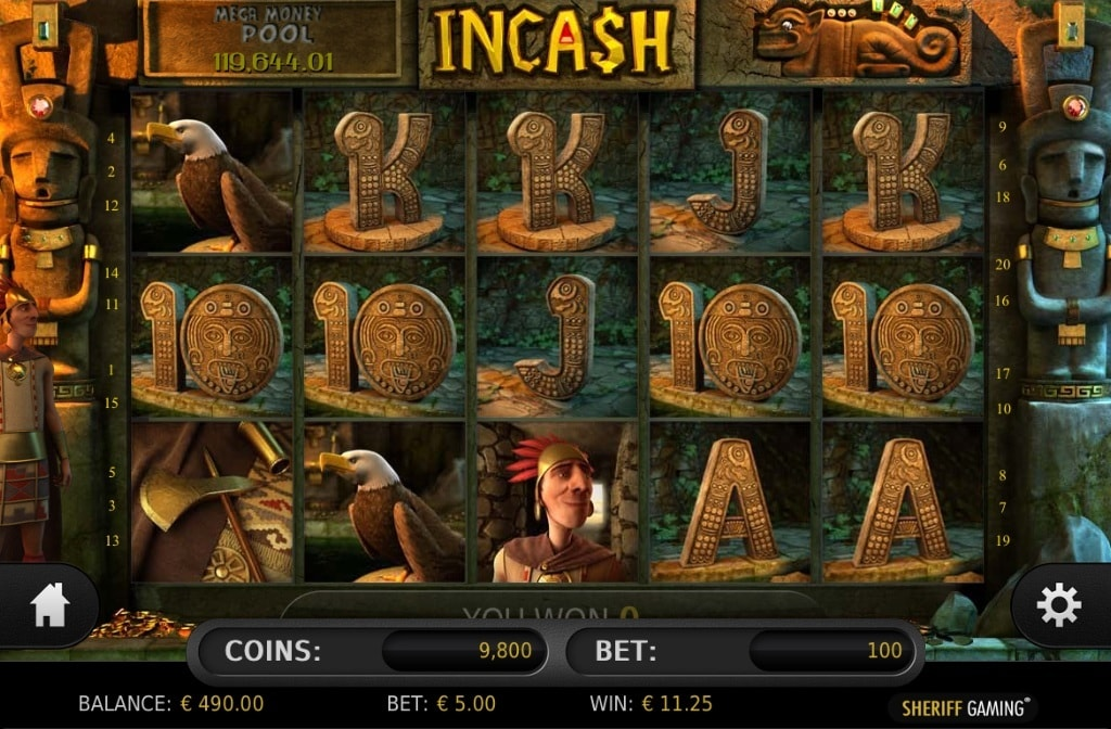 3D slot Incash from Sheriff Gaming