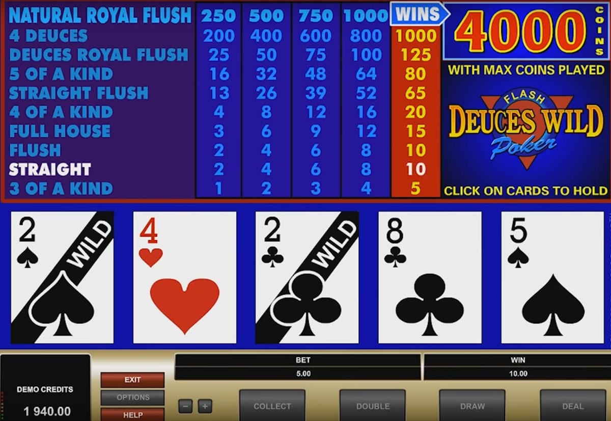 Microgaming - Jackpot Deuces, screenshot 3