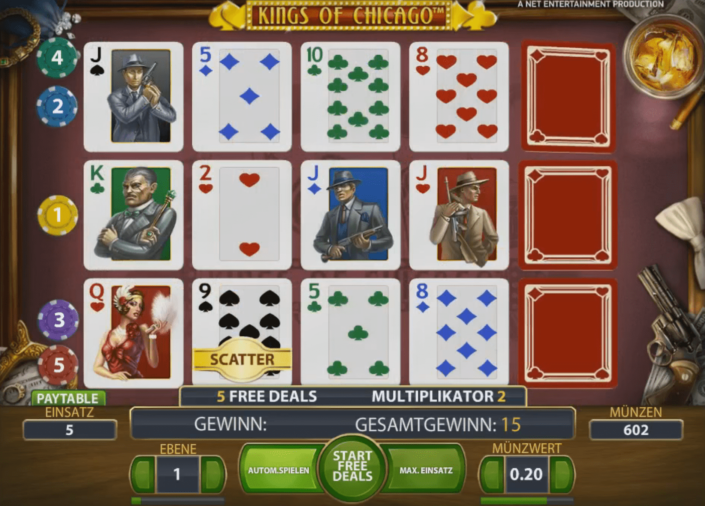NetEnt mobile slots - Kings of Chicago