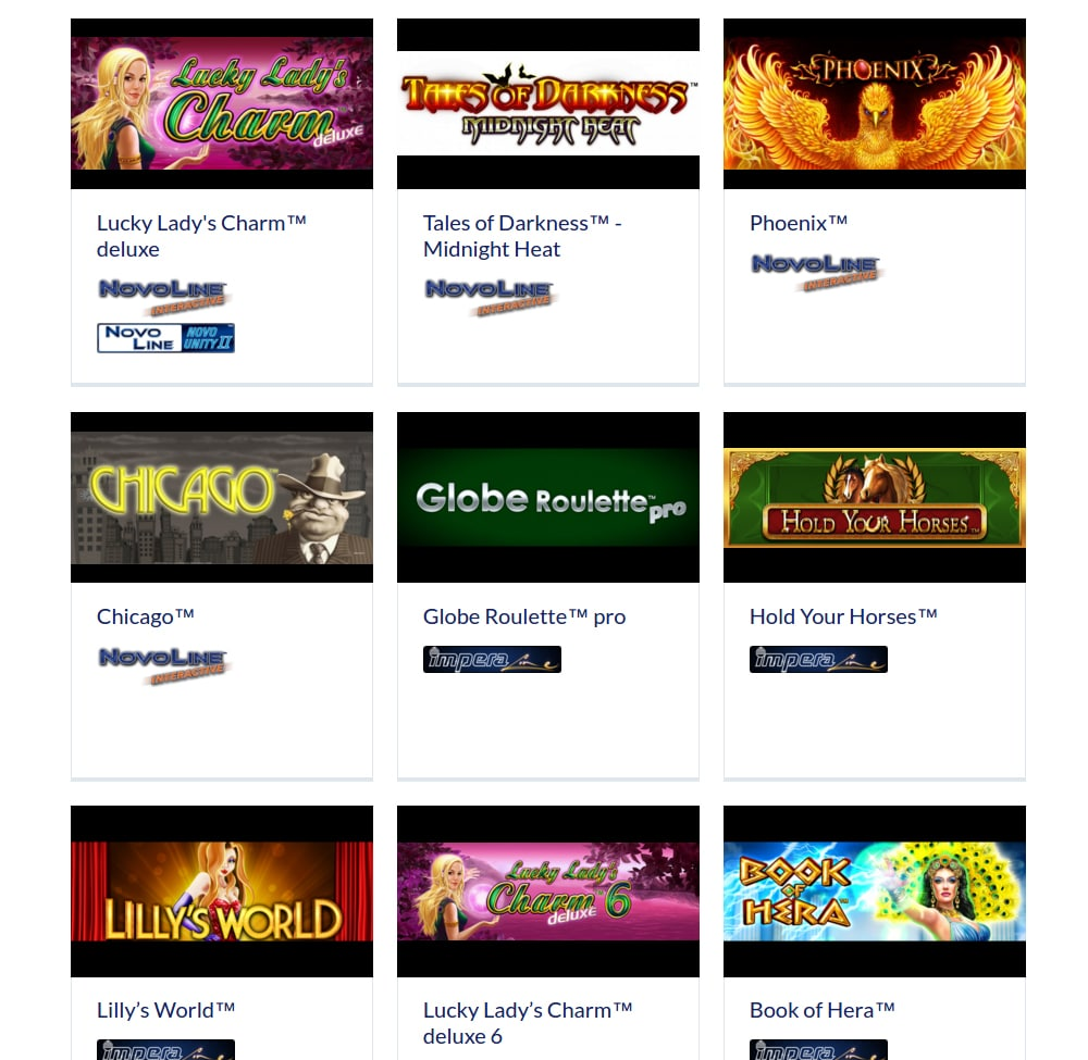 Novomatic casino software - HTML5-games