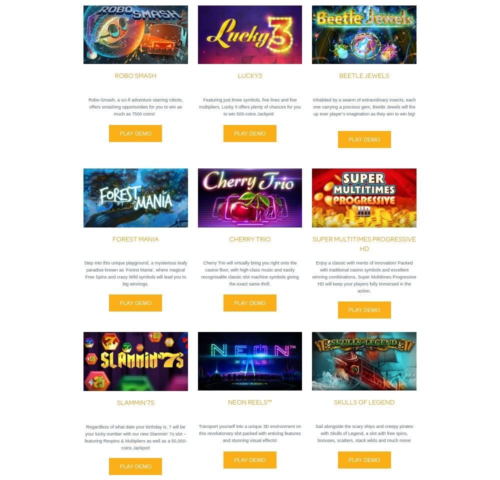 HTML5 games from iSoftBet
