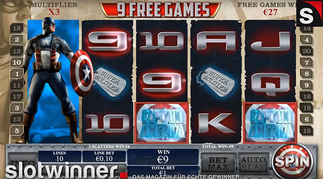 Playtech slot - capitan america